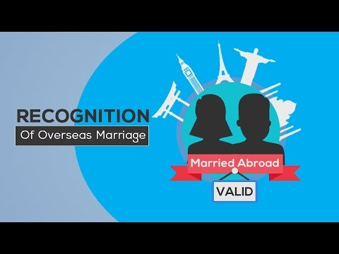 Recognition of overseas marriage in Australia