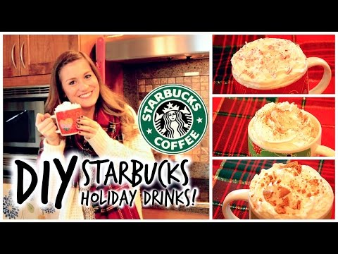 DIY Starbucks Holiday Drinks: Peppermint Mocha, Eggnog Latte and Gingerbread Latte!