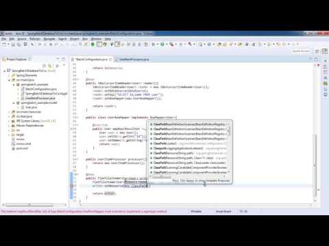 Spring Boot Batch MySQL Database to CSV file - Spring batch tutorial for beginners