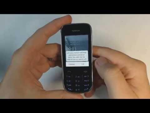 Nokia Asha 202 factory reset