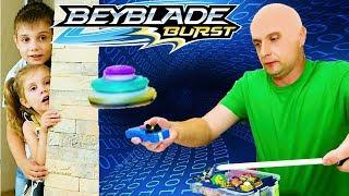 Download Балди Играет в БейБлэйд В Реальной Жизни ДЕТИ Получили Подарок Новые Волчки BeyBlade from Bald Video