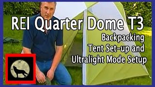 REI Quarter Dome T3 Backpacking Tent Set-up and Ultralight Mode Setup and Review | Music Jinni  sc 1 st  musicjinni & REI Quarter Dome T3 Backpacking Tent Set-up and Ultralight Mode ...