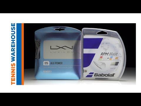Babolat RPM Blast vs. Luxilon ALU Power String Comparison