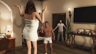 GTA 5 - What Franklin and Amanda Do In Michael's House? (After Michael's Death)