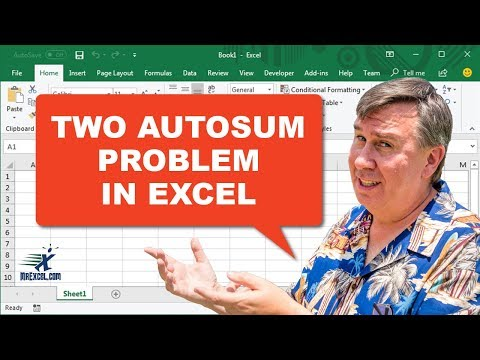 Learn Excel - Problem with 2 AutoSum - Podcast 2199