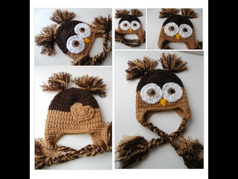 Baby Owl Hat - Brown Owl Hat - Baby to Adult Sizing - Photo