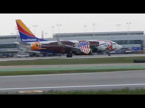 Southwest Airlines Illinois One Boeing 737-7H4 Takeoff From Midway Airport