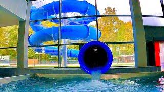 Blue Tube Water Slide at Termy Cieplickie
