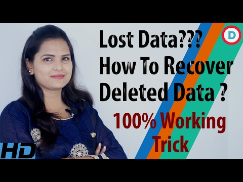 How To Easily Recover All Deleted Files & Folders From All Devices - 100% Working Trick In Hindi