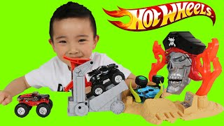 Hot Wheels Monster Jam Pirate Takedown Playset Unboxing And Playing With Ckn Toys