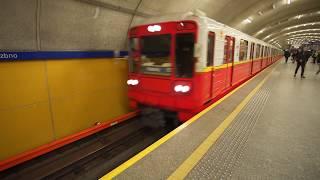 Poland, Warsaw, metro ride from Wierzbno to Wilanowska, 2X elevator, 2X escalator