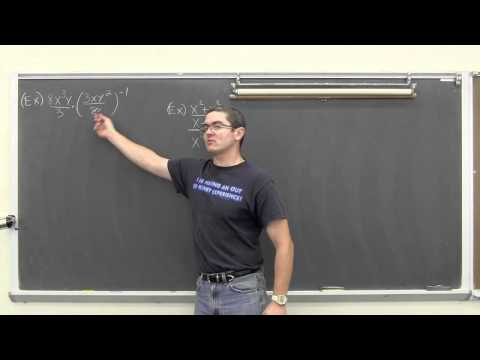 Product & Quotient of Rational Expressions