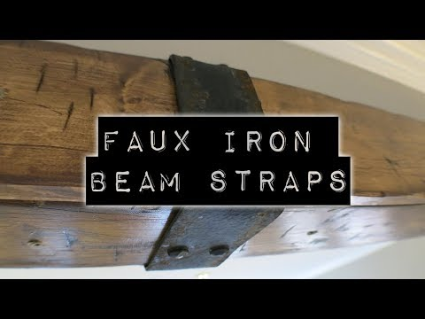 Faux Iron Beam Strap   DIY Home Improvement & Home Design