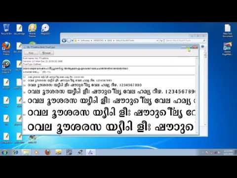 How to install Malayalam fonts (any font) in windows o.s