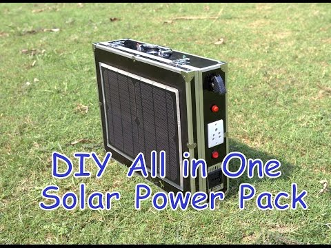 DIY All in One Portable Solar Power Pack
