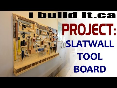 Making A Slatwall Tool Board