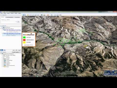 Active and Abandoned Gold Claims Map Google Earth Demo