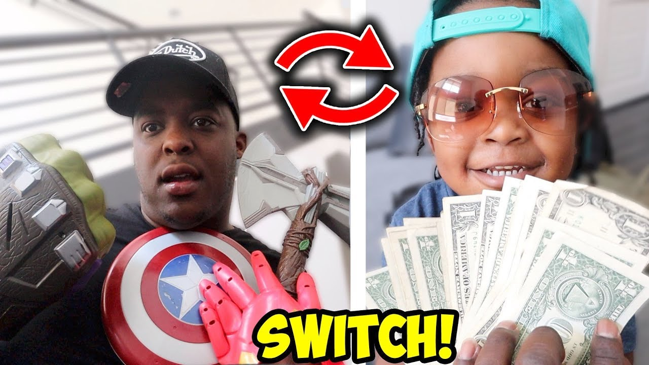 SWITCHING LIVES WITH MY 3 YEAR OLD SON FOR A DAY !!!