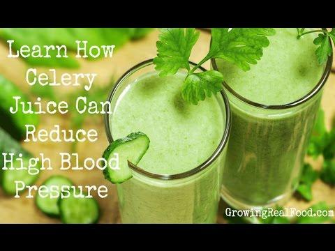 Celery juice for high blood pressure