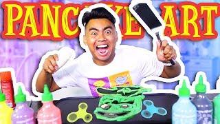 PANCAKE ART CHALLENGE!!!