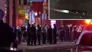 Unprovoked attack leaves 3 cops wounded, suspect critical, NYPD says