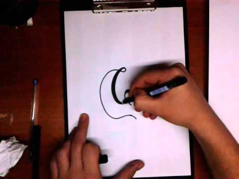 font styles - C letter (easy)