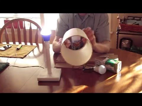 Making a lamp for a USB LED light bulb