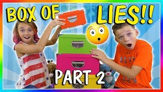 BOX OF LIES! HA!   CHALLENGE PART 2   We Are The Davises