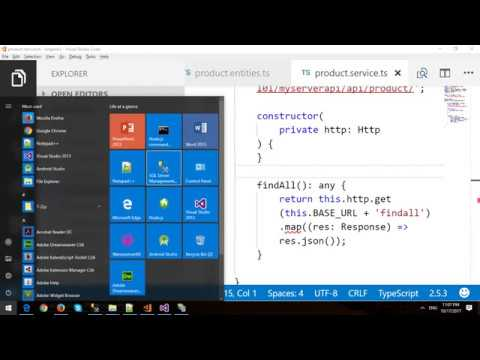 Angular 2 with ASP.NET Web API and Entity Framework