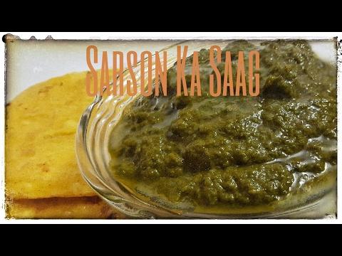 Simple & Traditional Sarson ka Saag Recipe-Hindi सरसों का साग/Saag Recipe/How to Make Sarson ka Saag