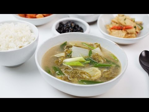 Baby Cabbage Soybean Paste Soup, Woogeojiguk - Crazy Korean Cooking EXPRESS
