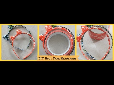 DIY Duct Tape Headbands /DIY Duct Tape Crafts /How to Make a Duct Tape Headband- Tutorial