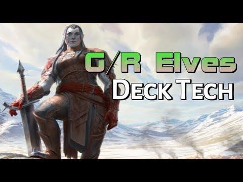 Mtg Budget Deck Tech: G/R Elves in Dominaria Standard!