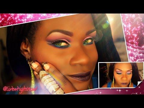 How to: Cut Crease Eyeshadow Tutorial w/Double Wing Eyeliner