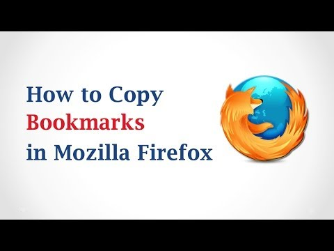 How to Copy Bookmarks in Mozilla Firefox