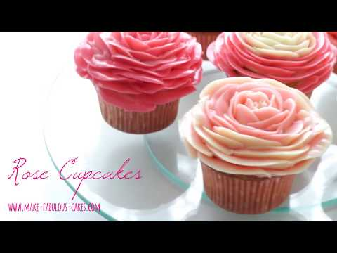 How to make Two-toned  Buttercream Rose Cupcakes