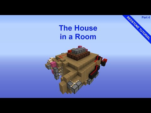 Minecraft House in a Room Redstone Tutorial | Part 4 | Music Circuit
