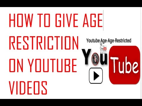 How to give age restriction on video and select category