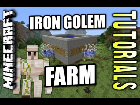 Minecraft PS4 - IRON GOLEM FARM - AUTOMATIC - Tutorial ( PE / PS3 / XBOX / WII U  )