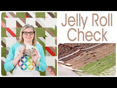 How to Make an Easy Jelly Roll Quilt: Jelly Roll Check - Shortcut Quilt