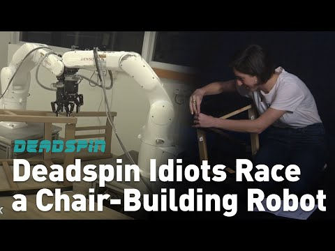 Deadspin Idiots Race a Chair-Building Robot