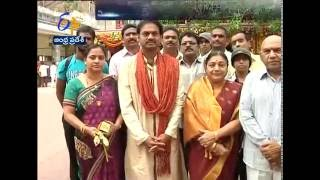 BCCI Selection Committee Chief MSK Prasad Visits Kanaka Durga Temple