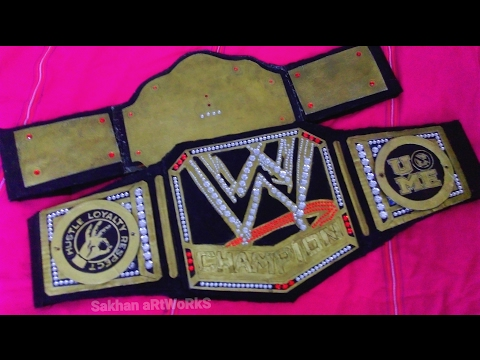 How To Make WWE world heavy weight championship big gold belt