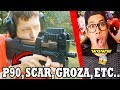 FREE FIRE ARMAS EN LA VIDA REAL P90 GROZA SCAR AK AWM