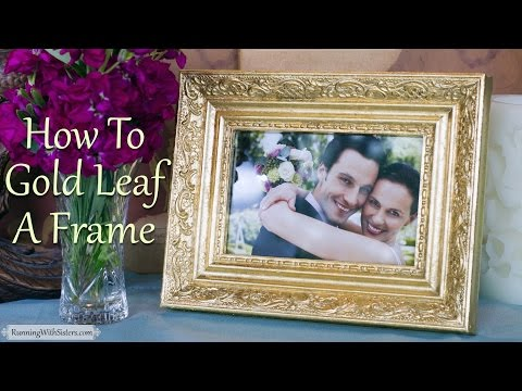 Gold Leaf 101: How To Gold Leaf A Picture Frame