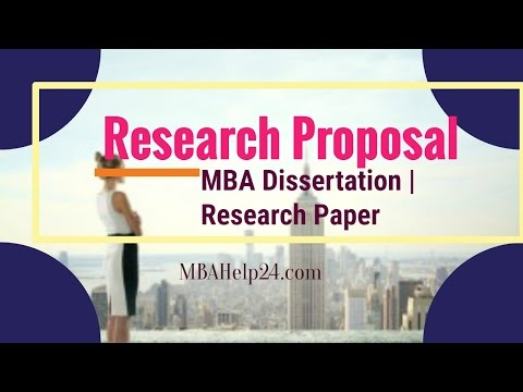 A Clear and Concise Introduction To Research Proposal | MBA Dissertation |  Research Paper
