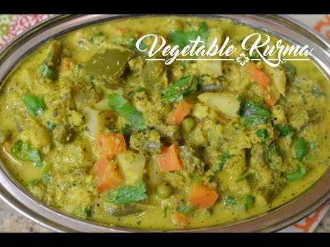 Vegetable Kurma   South Indian Mixed Vegetable Kurma Recipe - Megha's Cooking Channel - Episode 114