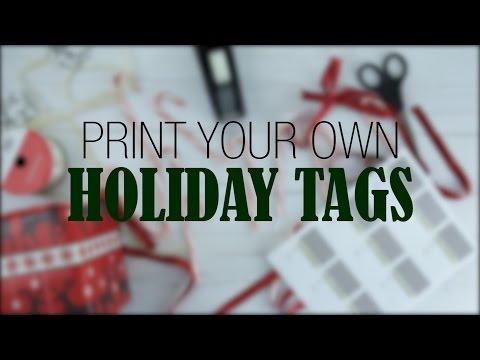 Holiday Gift Tag Printable Label Templates