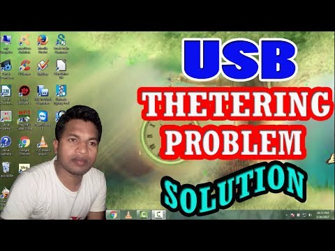 how to solve USB tethering problem in windows xp and 7 and 10