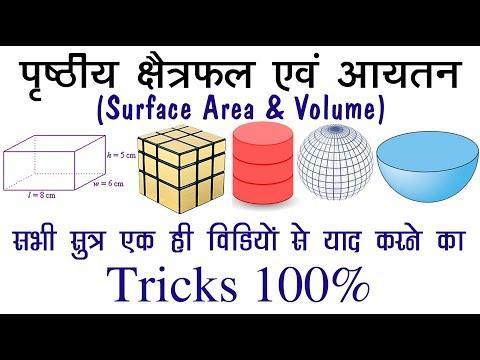 CSA , TSA  & VOLUME of Cube, Cuboid, Cylinder, Cone, Sphere, Hemisphere & Hollow & Diagonals